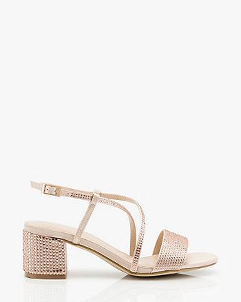 Jewel Embellished Satin Strappy Sandal