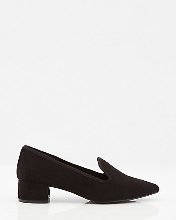 Faux Suede Loafer Pump
