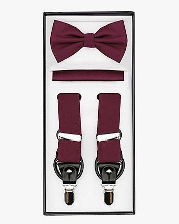 Bow Tie, Pocket Square & Suspender Set