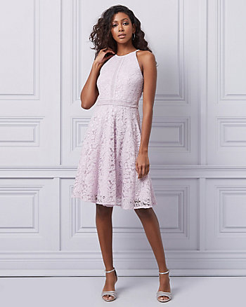 Lace Halter Neck Cocktail Dress