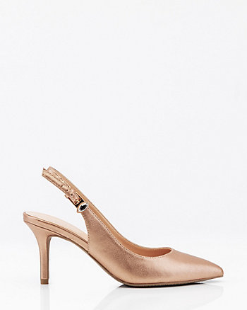 Pointy Toe Slingback Pump