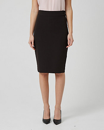 Washable Bi-Stretch Pencil Skirt