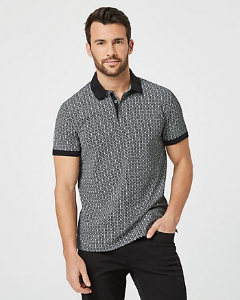 Cotton Polo Collar Shirt