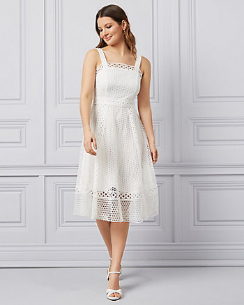 Crochet Lace Fit & Flare Dress