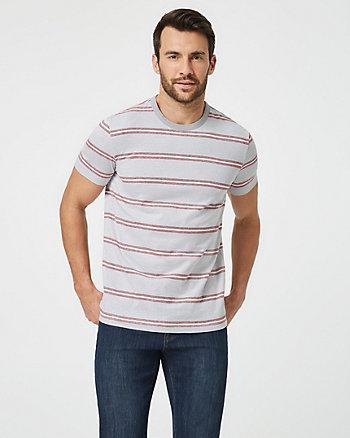 T-shirt rayé de coupe ajustée en coton