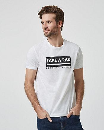 T-shirt Take A Risk en coton