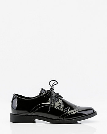 Patent Lace-Up Oxford