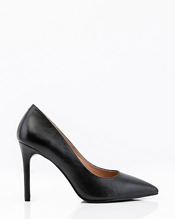 Leather Pointy Toe Pump