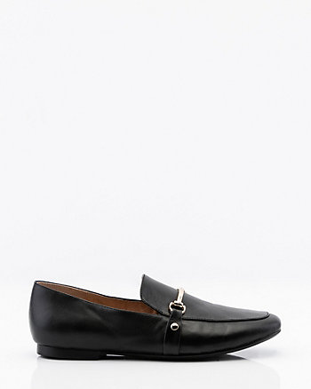 Leather Square Toe Loafer
