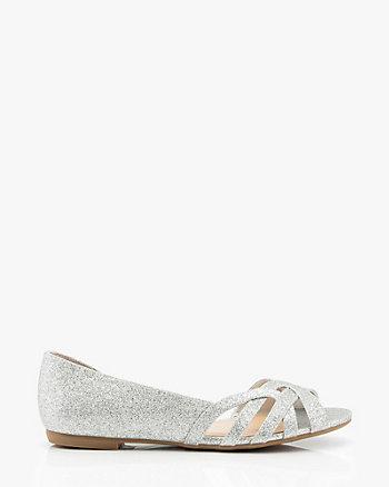Glitter Half d'Orsay Flat