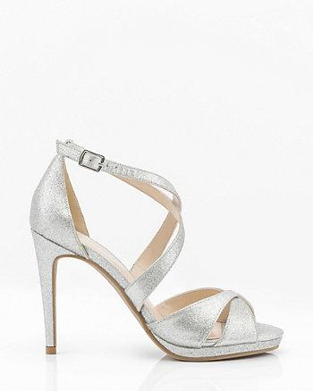 Glitter Criss-Cross Platform Sandal