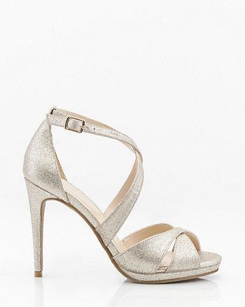 c4937d3d42249 Glitter Criss-Cross Platform Sandal