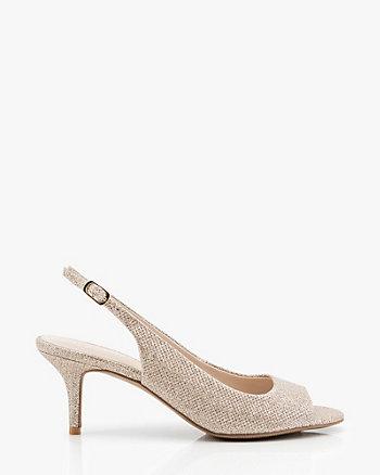 Peep Toe Slingback Sandal