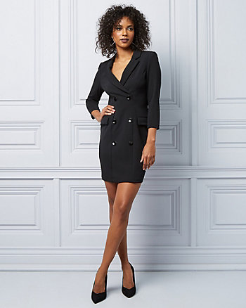 Knit Crêpe Blazer Dress