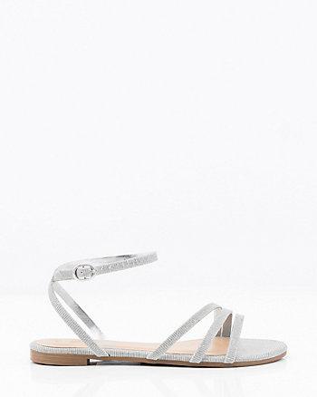 Metallic Asymmetrical Sandal