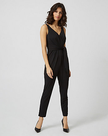 Jersey Wrap-Like Jumpsuit