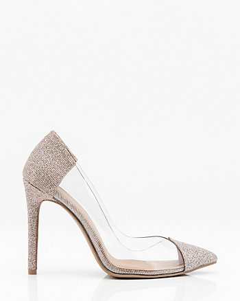 b2bcebe6ceb Pointy Toe Transparent Pump