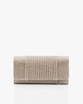 Metallic Flapover Crossbody Bag