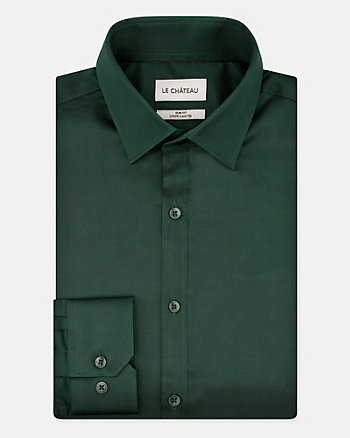 Stretch Sateen Cotton Slim Fit Shirt