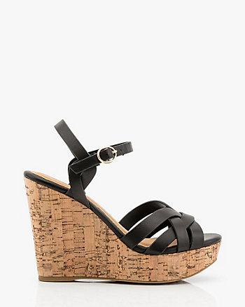 Sandale plateforme à lanières