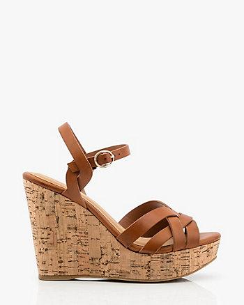 Strappy Platform Wedge Sandal