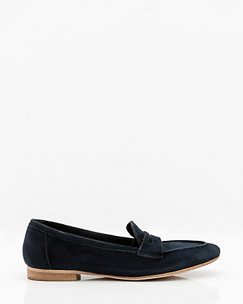 Italian-Made Suede Almond Toe Loafer