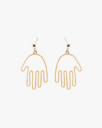 Hand Silhouette  Earrings