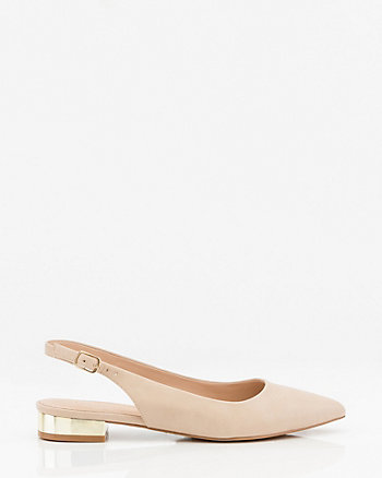 Italian-Made Pointy Slingback Shoe