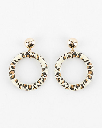 Leopard Print Door Knocker Earrings