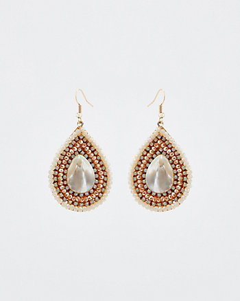 Jewel Embellished Teardrop Earrings