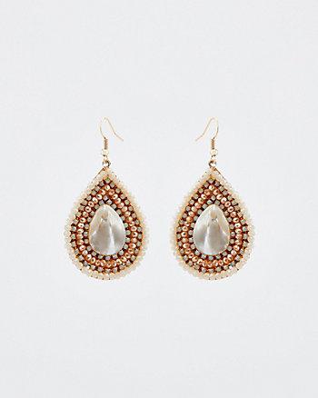 Jewel Embellished Teardrop Earrings