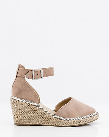 Braided Espadrille Wedge Sandal
