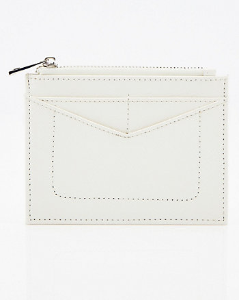 Faux Leather Card Holder