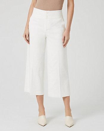 Cotton Blend Culotte Pant