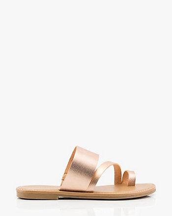 Asymmetrical Strap Sandal