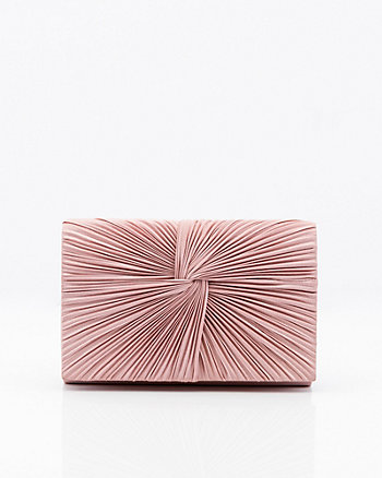 Satin Flapover Clutch