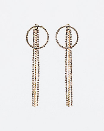 Gem Fringe Drop Earrings