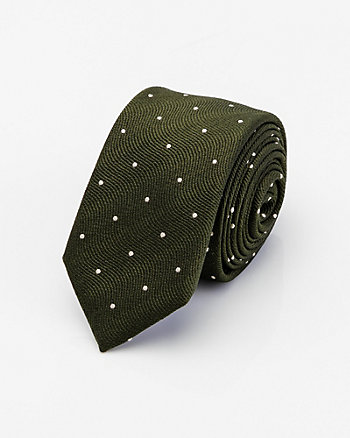 Italian-Made Polka Dot Cotton & Silk Tie
