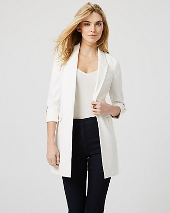 Ponte Knit Notch Collar Blazer