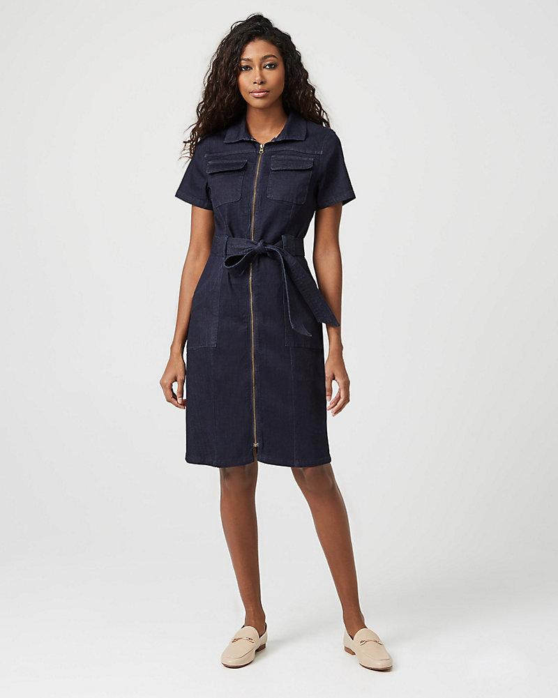 c246af998b Denim Zip Front Dress