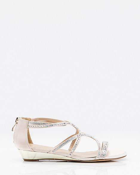 Strappy Wedge Le Sandal Mesh ChâteauGlitter PXuOZTwkil