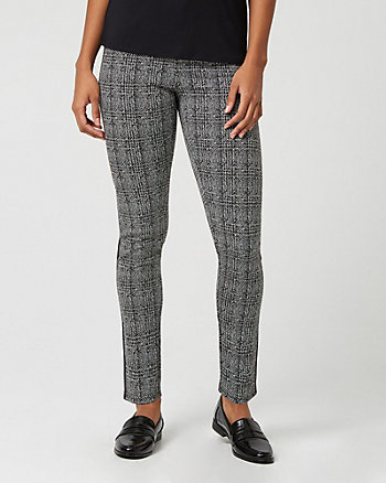Jacquard Print Knit Side Stripe Pant