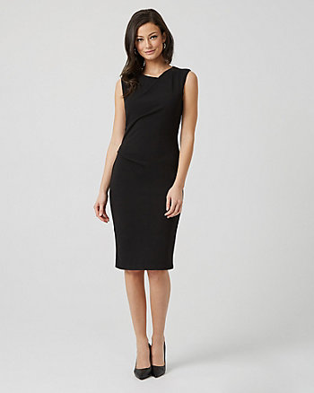 Crêpe Knit Scoop Neck Sheath Dress