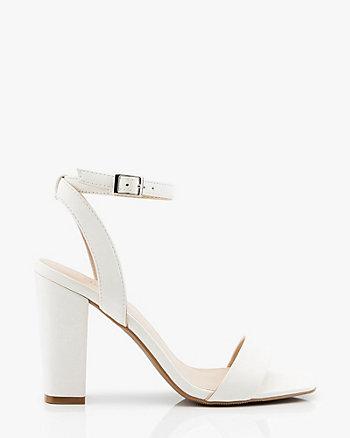 Sandale à talon bloc