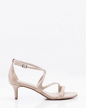 Patent Open Toe Strappy Sandal