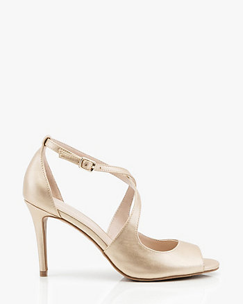 Criss-Cross Peep Toe Sandal