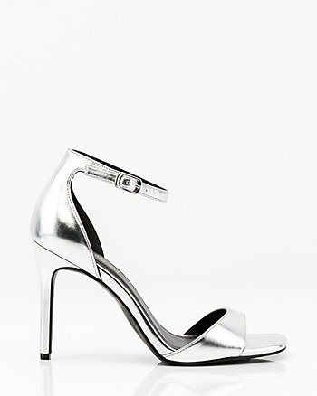 Metallic Open Toe Sandal