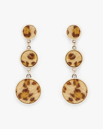 Leopard Print Drop Earrings