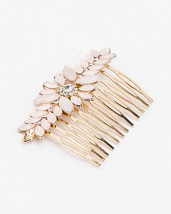 Gem Flower & Leaf Hair Comb
