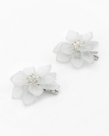Set of Two Beaded Flower Hair Clip